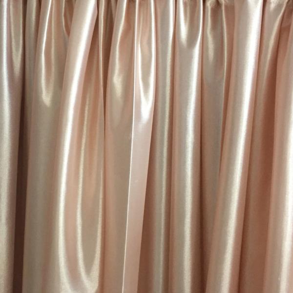 rose gold backdrop drape