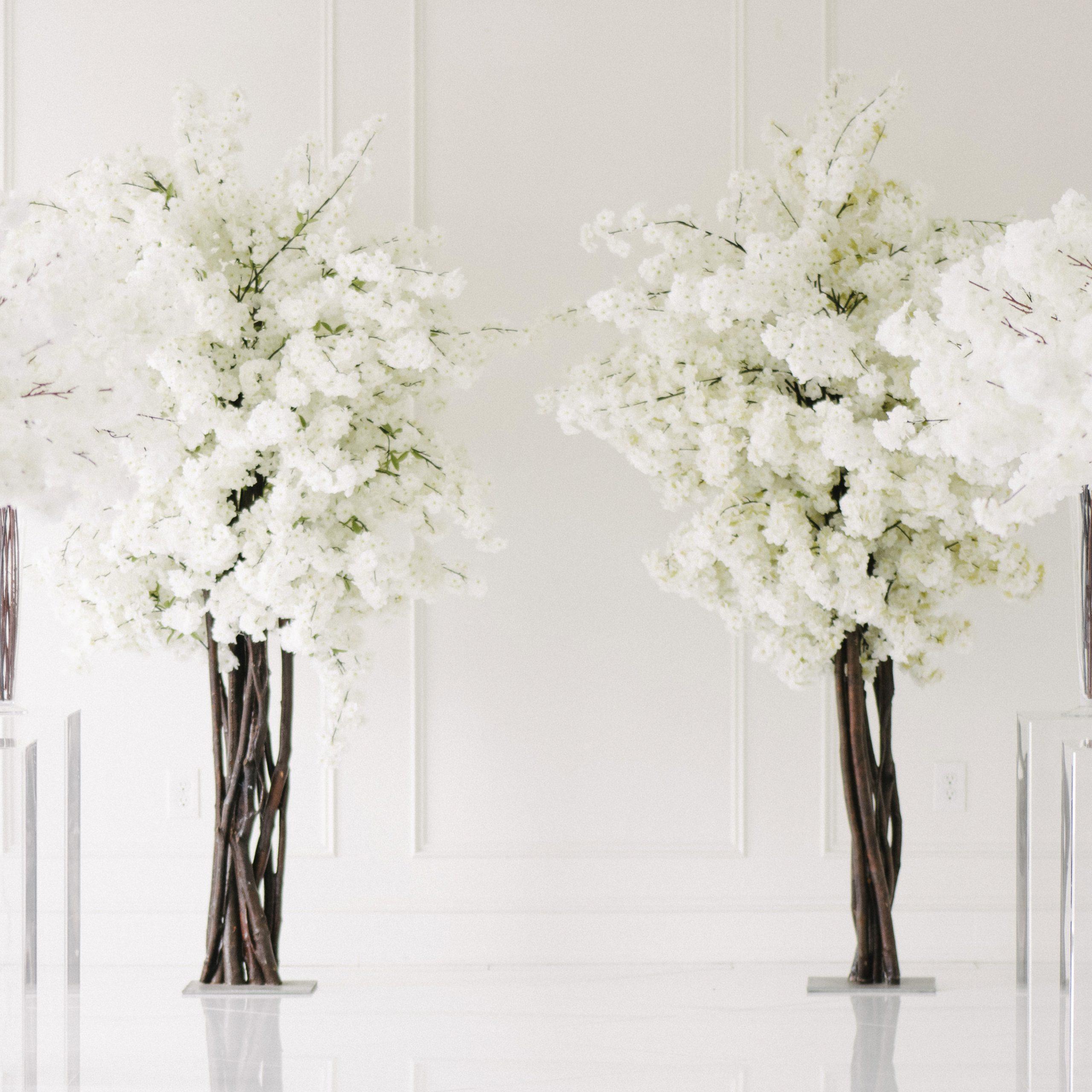 Dulce White Blossom Tree Rental Vintagebash