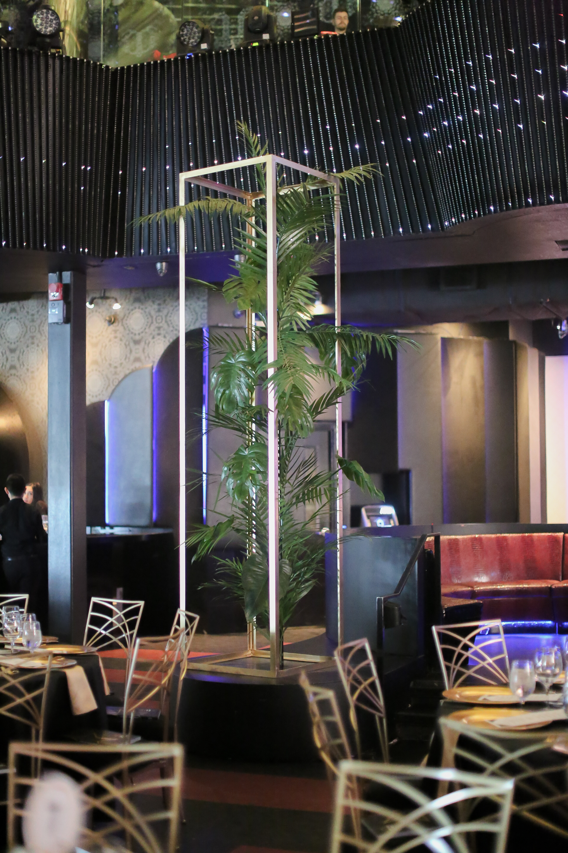 Tropical Plants Pole Installations Monsterra Gala Event