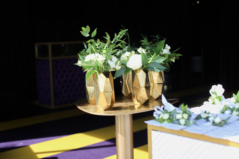 tropical plant pole installation gala event