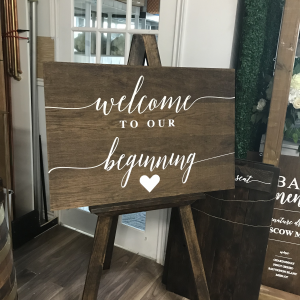 Welcome Sign wooden rustic