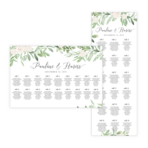 Greenery White Seating Chart