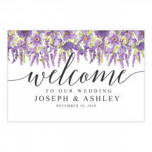 Lilac Welcome Sign