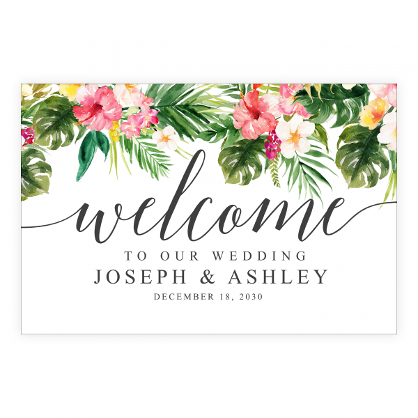 Tropical Beach Vibe Welcome Sign