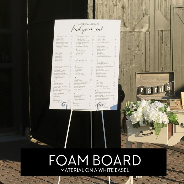 White Easel White Seating Chart