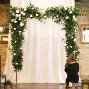 Greenery Copper Arch Ceremony Arch