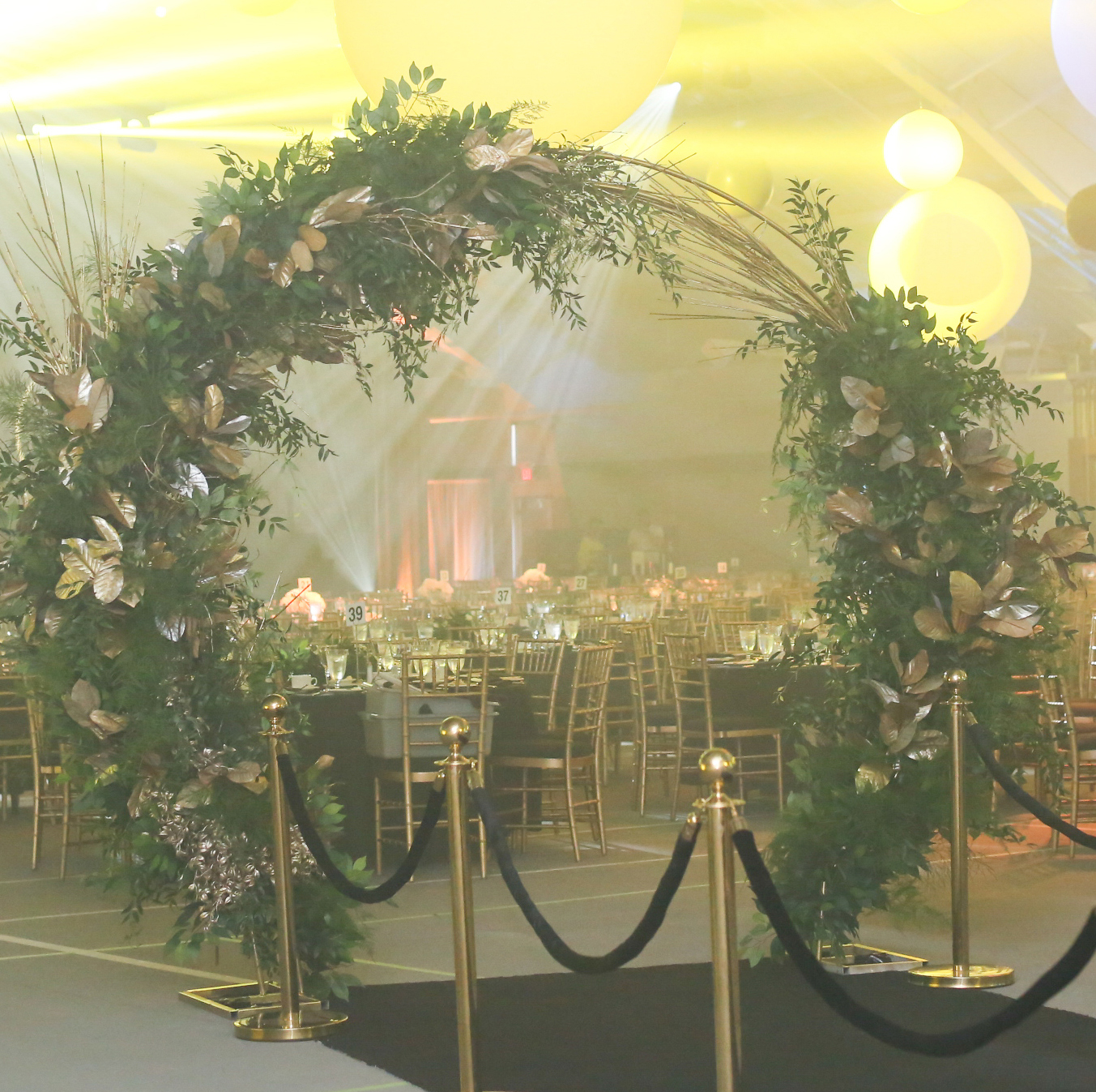 Gold Arch Floral Arrangement
