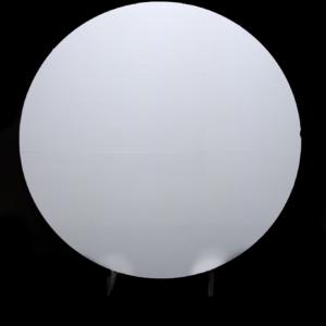 Circular Acrylic Backdrop White