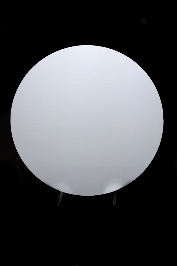 Circular Acrylic Backdrop White