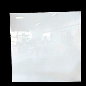Rectangular Acrylic Backdrop White