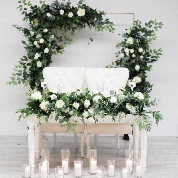 Greenery Wild Wedding Sweet Heart Table Flower