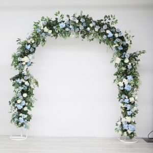 U Arch Airy Arrangement dusty blue wedding