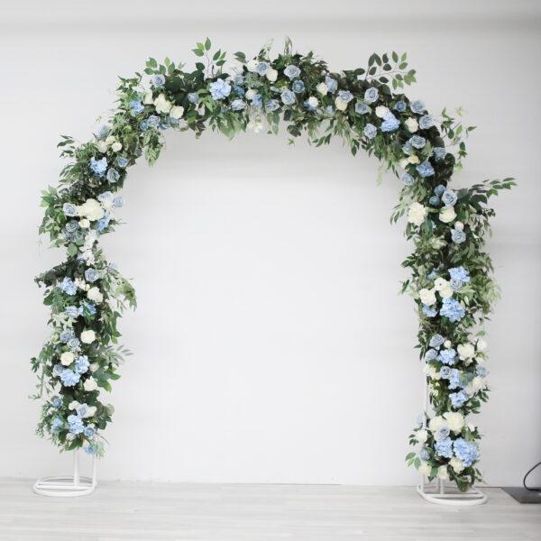 U Arch Airy Arrangement dusty blue wedding