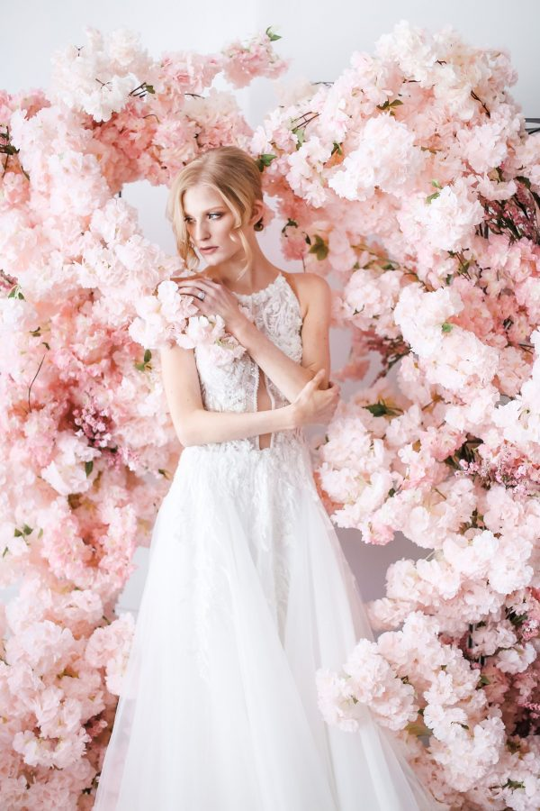 Pink Cherry Blossom Wedding Backdrop