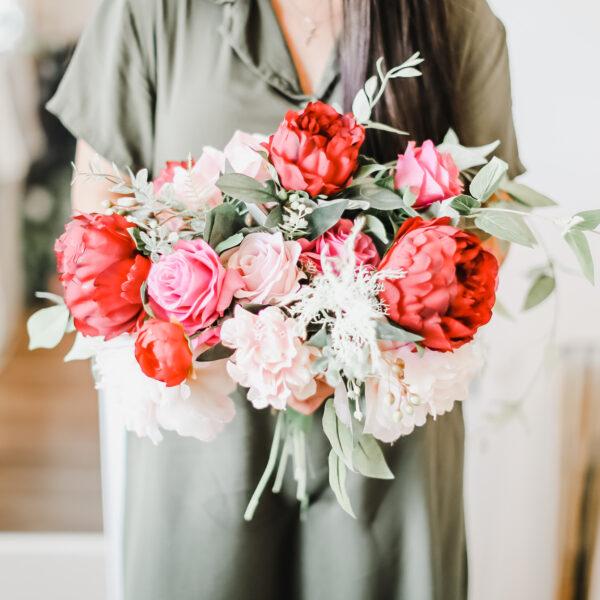 Uks Pink & Red Bouquet
