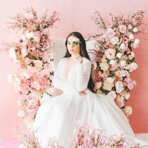 Pink Floral Backdrop