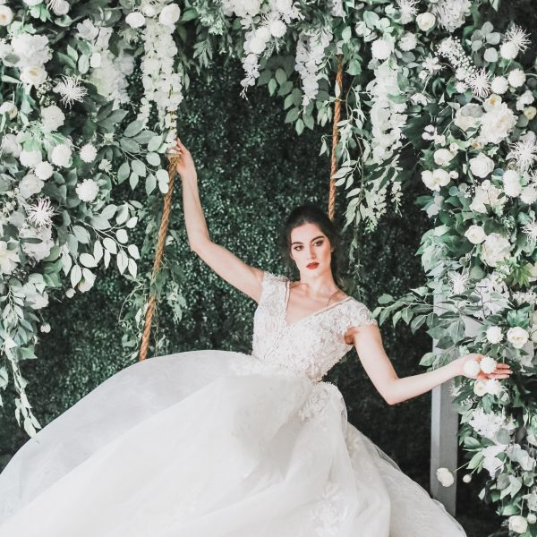 Swing Floral Backdrop Arch