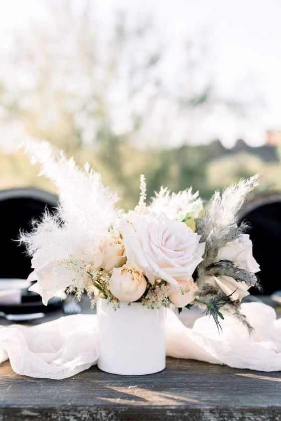 Pampas Flower Centerpiece