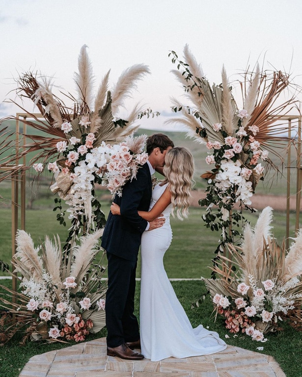 Pampas Dried Wedding Arch