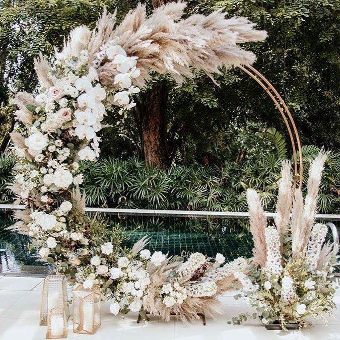 Pampas Wedding Arch