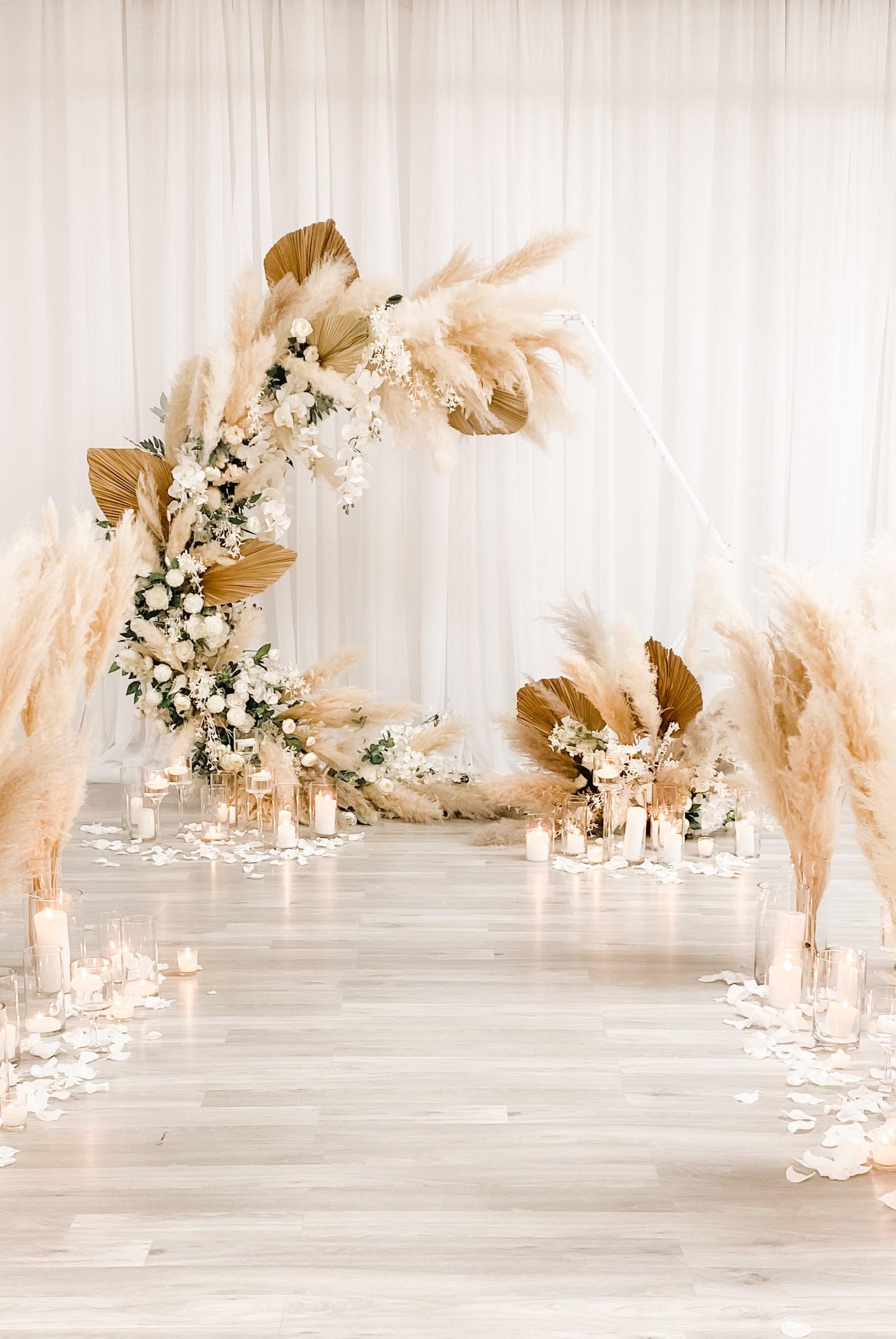 Pampas Grass Bohemian Wedding Backdrop