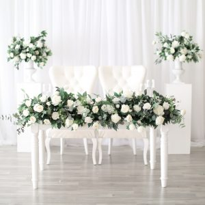 Greenery Wedding Floral Runner Head Table