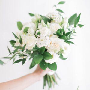 Bride Bouquet White & Green
