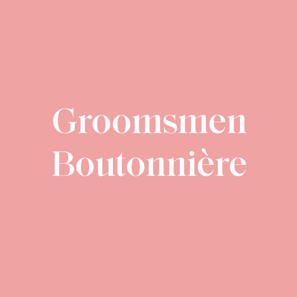 Groomsmen Boutonnière