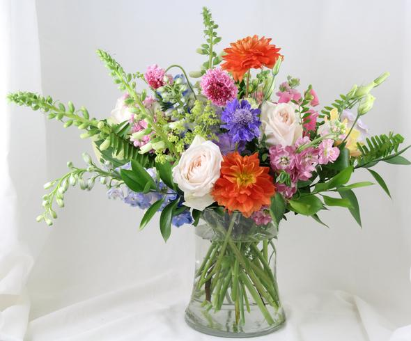 Periwinkle Flower Arrangement