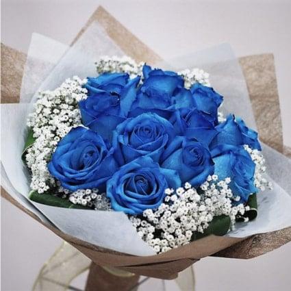 Toronto Flower Gallery Blue Roses Bouquet