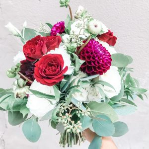 Wedding · Burgundy Love Bridal Bouquet