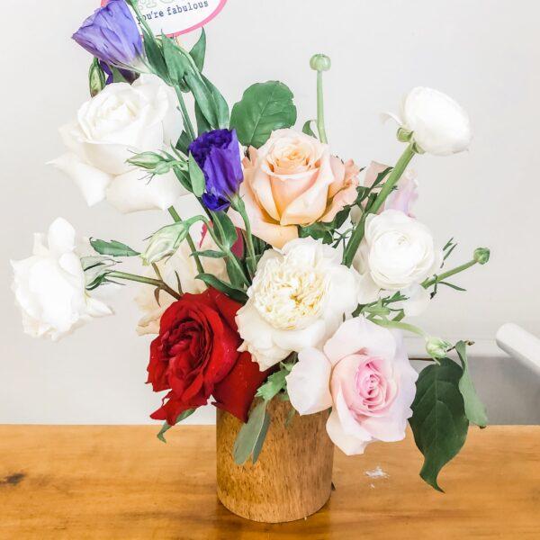 Cozy & Bright Vase Floral Arrangement