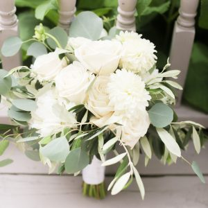 Wedding · Lush White Bridal Bouquet with Greens