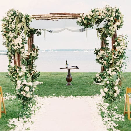 Petals & Oak Arch Bohemian Wedding