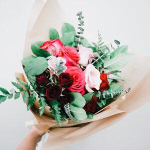 Bright Love · Designer's Choice Hand-Tied Bouquet