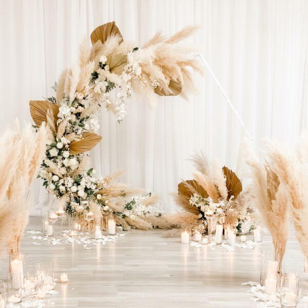 Pampas Backdrop Bohemian Wedding Ceremony