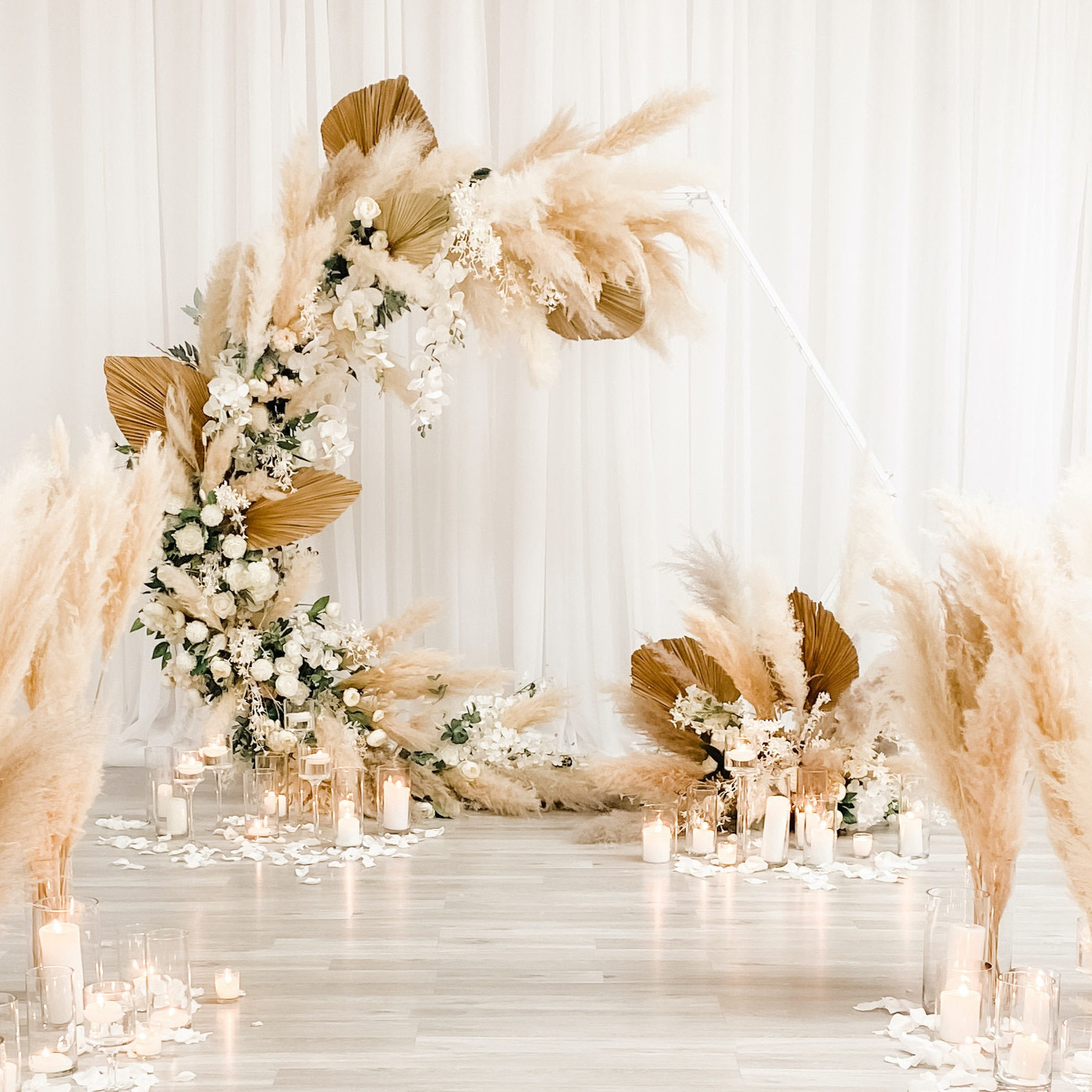 Pampas Backdrop Bohemian Wedding Ceremony